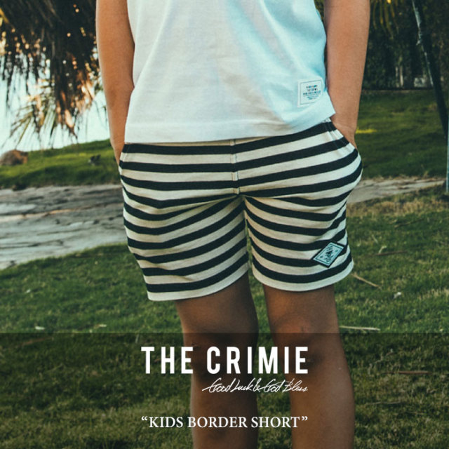 CRIMIE(クライミー) KIDS BORDER SHORT 【2017SUMMER先行予約】 【キャンセル不可】 【C1G3K-CS02】【CRIMIE キッズ】