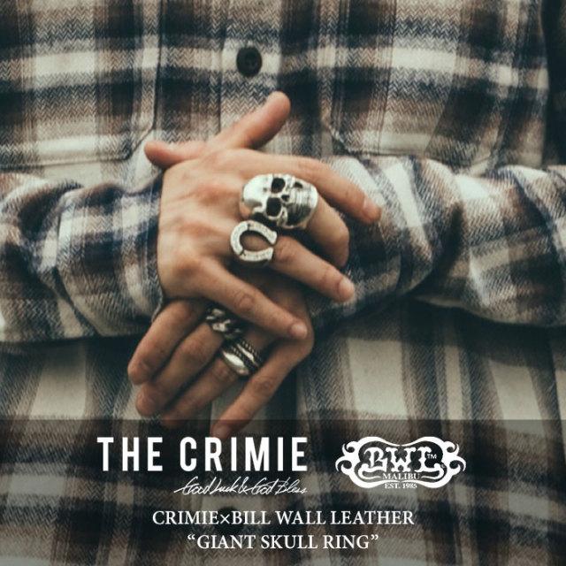 CRIMIE(クライミー) GIANT SKULL RING 【2017AUTUMN/WINTER先行予約】 【送料無料】【キャンセル不可】 【C1G5-CRBW-R03C】 【C