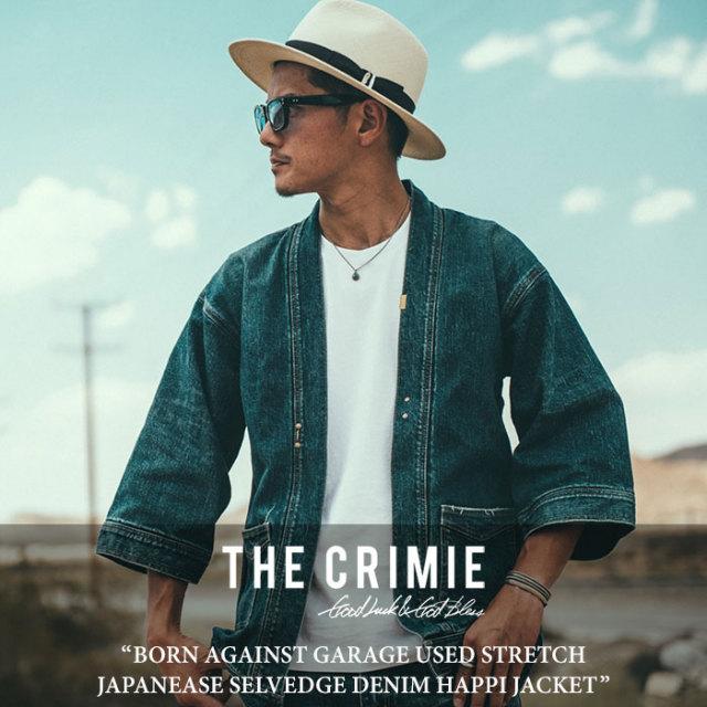 CRIMIE(クライミー) BORN AGAINST GARAGE USED STRETCH JAPANEASE SELVEDGE DENIM HAPPI JACKET 【2018SPRING/SUMMER先行予約】