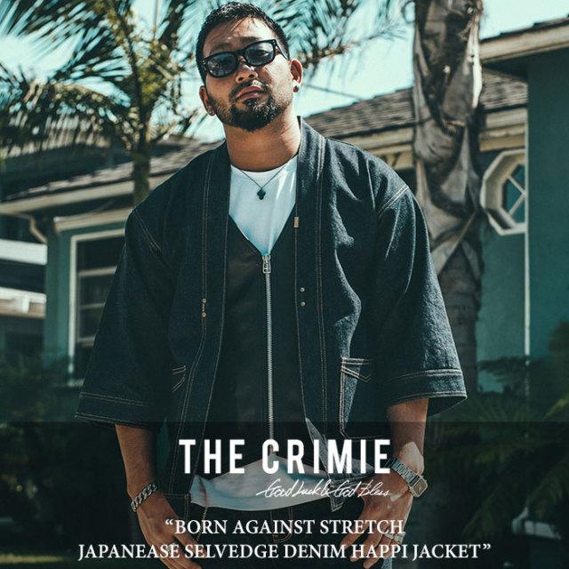CRIMIE(クライミー) BORN AGAINST STRETCH JAPANEASE SELVEDGE DENIM HAPPI JACKET 【2018SPRING/SUMMER先行予約】 【送料無料】