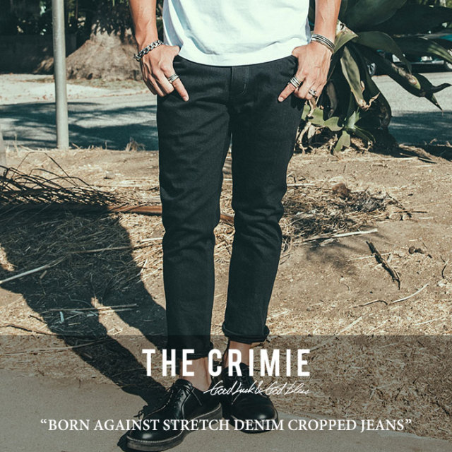 CRIMIE(クライミー) BORN AGAINST STRETCH DENIM CROPPED JEANS 【2018SPRING/SUMMER先行予約】 【送料無料】【キャンセル不可】