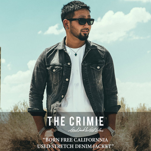 CRIMIE(クライミー) BORN FREE CALIFORNNIA USED STRETCH DENIM JACKET 【2018SPRING/SUMMER先行予約】 【送料無料】【キャンセル