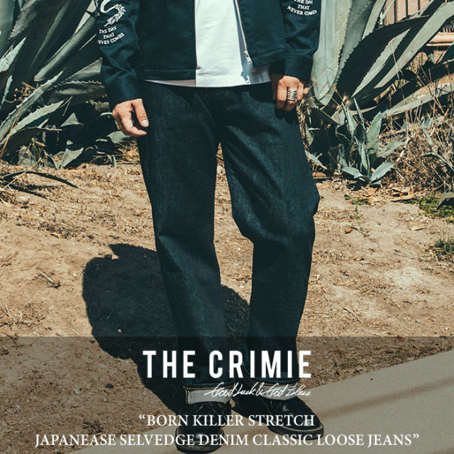 CRIMIE(クライミー) BORN KILLER STRETCH JAPANEASE SELVEDGE DENIM CLASSIC LOOSE JEANS 【2018SPRING/SUMMER先行予約】 【送料