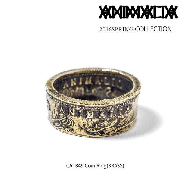 ANIMALIA(アニマリア) CA1849 Coin Ring(BRASS) 【即発送可能】【2016SPRING】 【THE CHERRY COKE$】 【チェリコ】 【ANIMALIA(