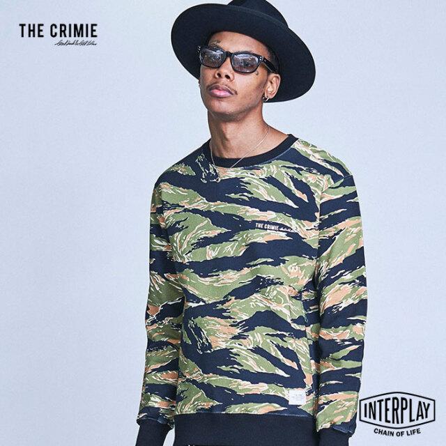 【SALE20%OFF】CRIMIE クライミー TIGER CAMO SWEAT CREW NECK CR1-02A1-CL81  トップス スウェット パーカー ファッション アメカ