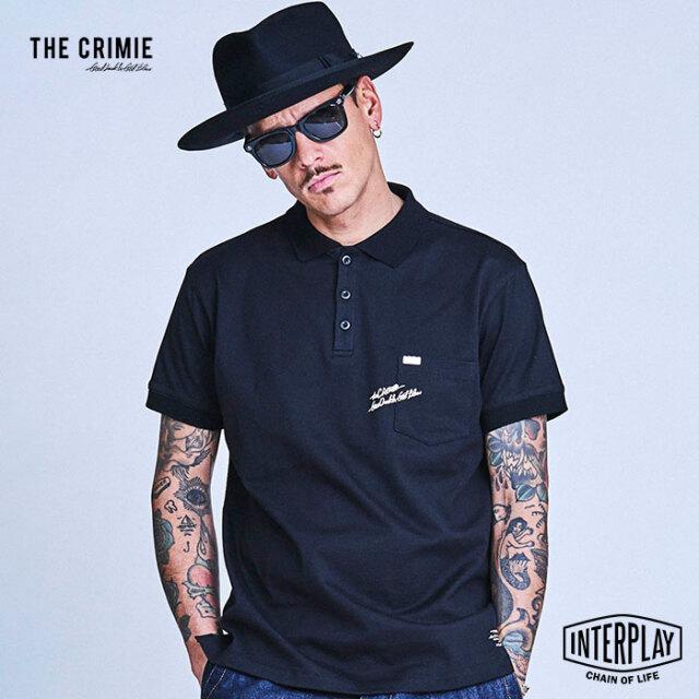 【予約商品】CRIMIE クライミー LETTERING LOGO POCKET POLO SHIRT CR1-02A1-CS14  トップス ポロシャツ ロゴ Tシャツ アメカジ ファ
