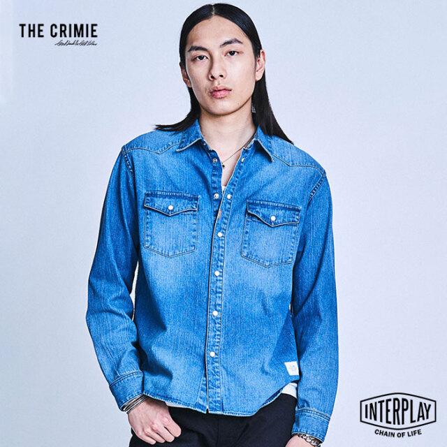【予約商品】CRIMIE クライミー DENIM SHIRT CR1-02A1-SL03  デニム トップス デニムシャツ シャツ 岡山 ジーンズ ヴィンテージ 加工