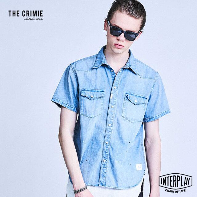 【予約商品】CRIMIE クライミー DENIM SHORT SLEEVE SHIRT CR1-02A1-SS02  トップス デニム シャツ ビンテージ 岡山 ファッション ア