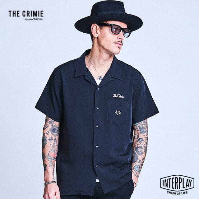 【予約商品】CRIMIE クライミー SCALE EMBROIDERY SHORT SLEEVE SHIRT CR1-02A1-SS04  トップス シャツ 開襟 刺繍 ファッション 春