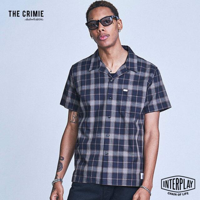 【予約商品】CRIMIE クライミー LONDON CHECK SHORT SLEEVE SHIRT CR1-02A1-SS06  トップス シャツ チェック 刺繍 ファッション 春