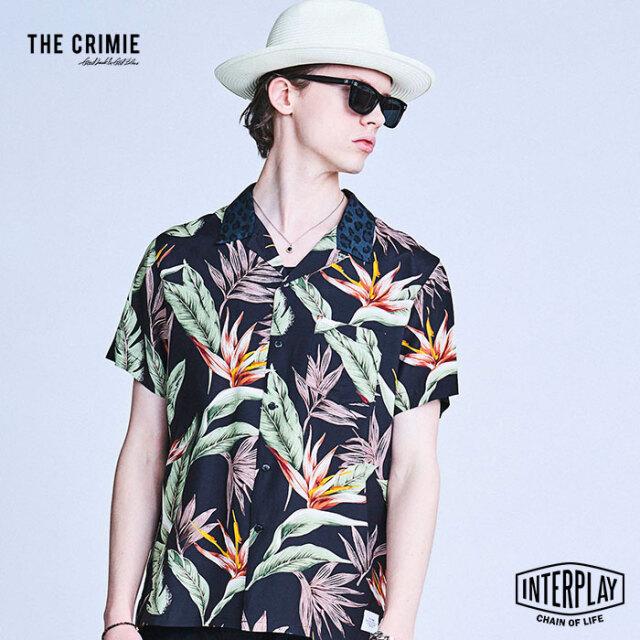 【予約商品】CRIMIE クライミー ALOHA SHORT SLEEVE SHIRT CR1-02A1-SS07  アロハ トップス シャツ オープンカラー ボタニカル ファ