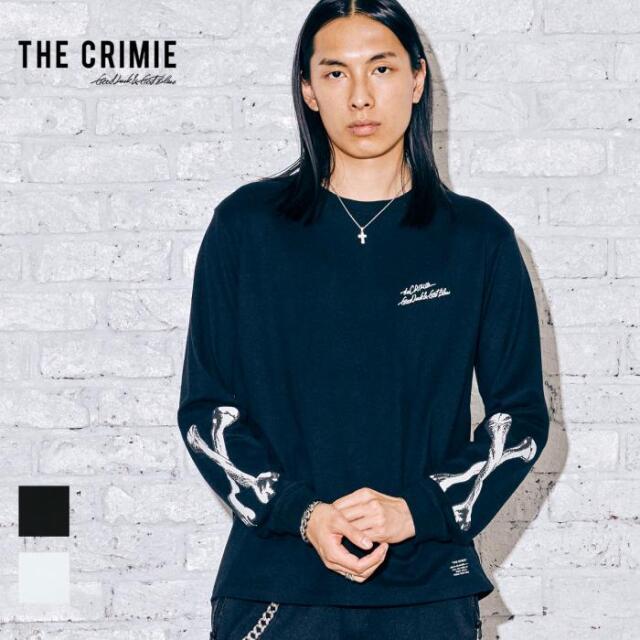 【取り寄せ対応】 CRIMIE クライミー THE BONE LONG SLEEVE TEE CR1-02A5-CL02 21AW Tシャツ ロンT カットソー トップス ロゴ プリン