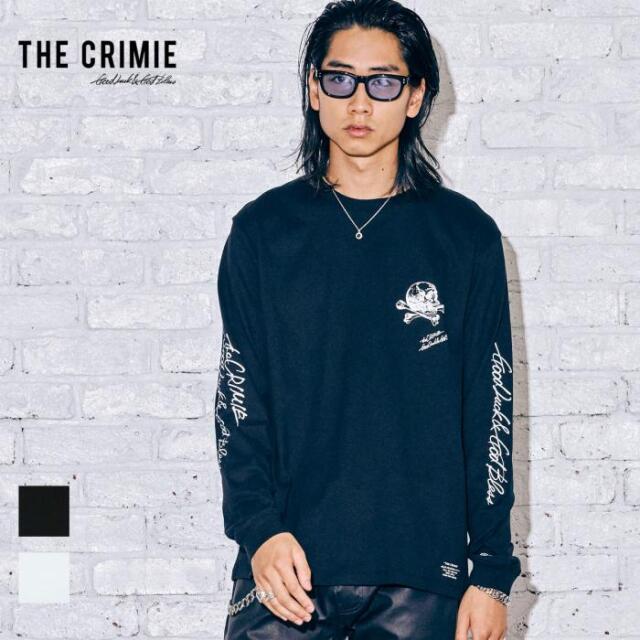 【取り寄せ対応】 CRIMIE クライミー SKULL LETTERING LOGO LONG SLEEVE TEE CR1-02A5-CL10 21AW Tシャツ ロンT カットソー トップス