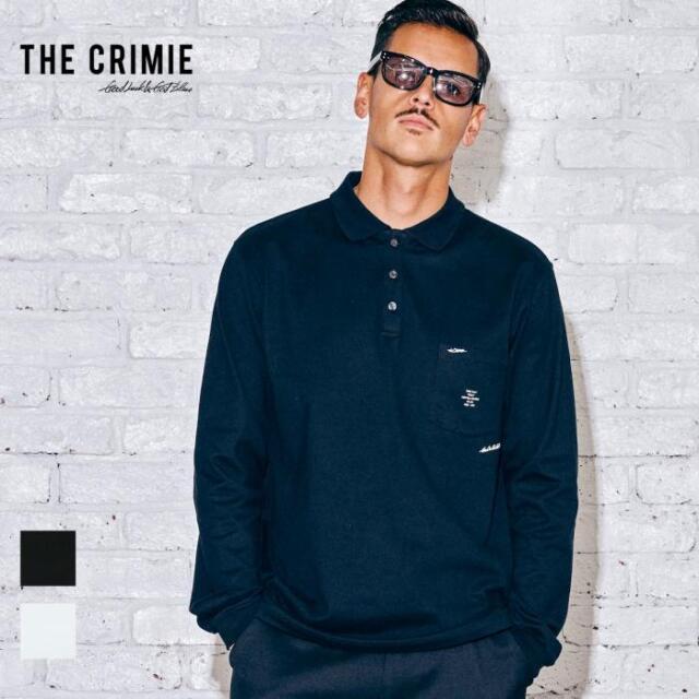 【取り寄せ対応】 CRIMIE クライミー LONG SLEEVE POLO SHIRT CR1-02A5-CL15 21AW Tシャツ カットソー ポロシャツ トップス ロゴ プ