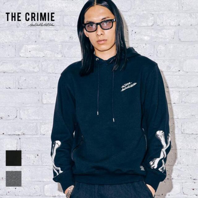 【先行予約】 CRIMIE クライミー THE BONE HOODIE CR1-02A5-CL54 21AW パーカー フーディ トップス スウェット プルオーバー ロゴ 袖