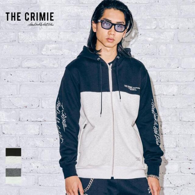 【先行予約】 CRIMIE クライミー SWITCHING HOODIE CR1-02A5-CL60 21AW パーカー フーディ トップス スウェット ジップアップ ビンテ