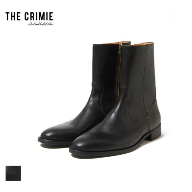 【先行予約】 CRIMIE クライミー THE ZIP BOOTS CR1-02A5-FW01 21AW ブーツ ジップブーツ シューズ カウ レザー 本革 牛革 モード カ