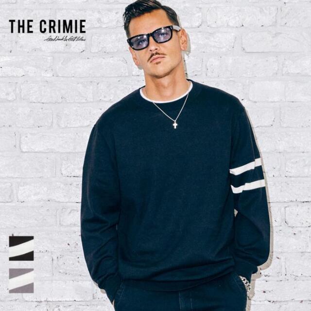 【先行予約】 CRIMIE クライミー LINE CREW NECK KNIT CR1-02A5-KN01 21AW ニット クルーネック コットン トップス カジュアル ファ