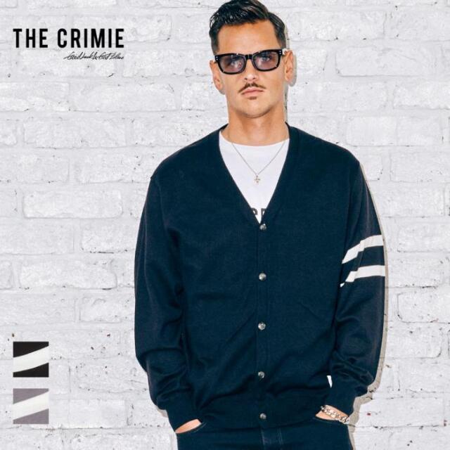 【先行予約】 CRIMIE クライミー LINE KNIT CARDIGAN CR1-02A5-KN02 21AW ニット カーディガン コットン トップス カジュアル ファッ