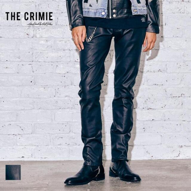 【取り寄せ対応】 CRIMIE クライミー LAMB LEATHER STRETCH PANTS CR1-02A5-PL03 21AW スラックス レザー パンツ ストレッチ 本革 オ