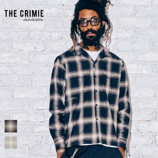 【取り寄せ対応】 CRIMIE クライミー OMBRE CHECK LONG SLEEVE SHIRT CR1-02A5-SL07 21AW オープンカラーシャツ チェックシャツ オー