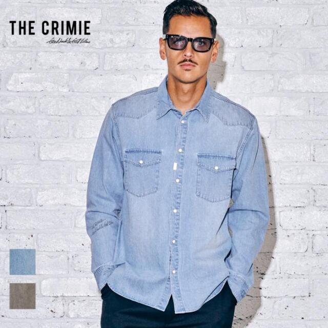 【取り寄せ対応】 CRIMIE クライミー DENIM WESTERN SHIRT CR1-02A5-SL11 21AW デニムシャツ デニム シャツ ウエスタンシャツ トップ