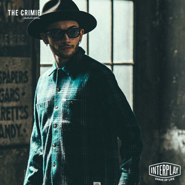 タイムセール【SALE52%OFF】 クライミー CRIMIE チェックシャギーニットシャツ CHECK SHAGGY KNIT SHIRT CR1-02L5-KN04 チェック