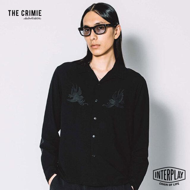 【先行予約】クライミー CRIMIE スワロー刺繍レーヨンシャツ SWALLOW EMBROIDELY RAYON SHIRT CR1-02L5-SL02 スワロー 刺繍 レーヨン