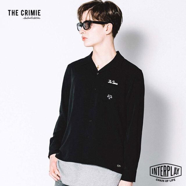 【先行予約】クライミー CRIMIE 天秤刺繍ツイルストレッチシャツ SCALES EMBROIDELY EASY CARE RAYON SHIRT CR1-02L5-SL03 スケール