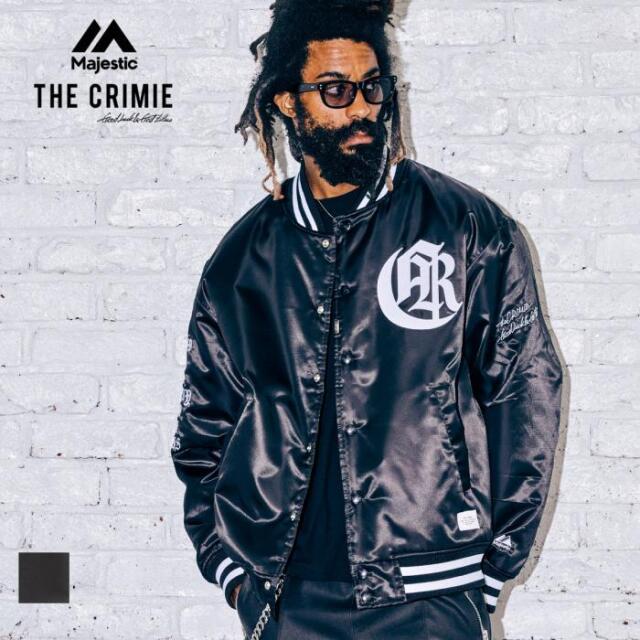 【取り寄せ対応】CRIMIE クライミー Majestic x THE CRIMIE SATIN STUDIUM JACKET CR1-C2A5-JK01 21AW スタジャン ジャケット コラボ