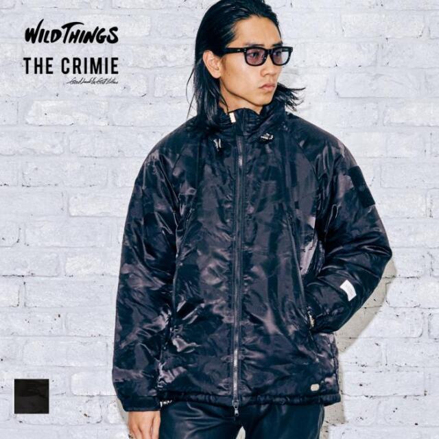 【取り寄せ対応】CRIMIE クライミー WILDTHINGS x THE CRIMIE CAMO JAQUARD NYLON HAPPY JACKET CR1-C2A5-JK03 21AW ダウンジャケッ