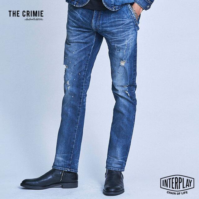 【予約商品】CRIMIE クライミー BORN RUDE GARAGE DENIM JEANS CRA-02A1-PL04  デニム ストレッチ デニムパンツ パンツ 岡山 アメカ