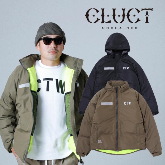 【SALE30%OFF】 CLUCT クラクト ジャケット CTW-COLD PARKA 【中綿ジャケット】【ブラック カーキ ナイロン】【アウター アメカジ