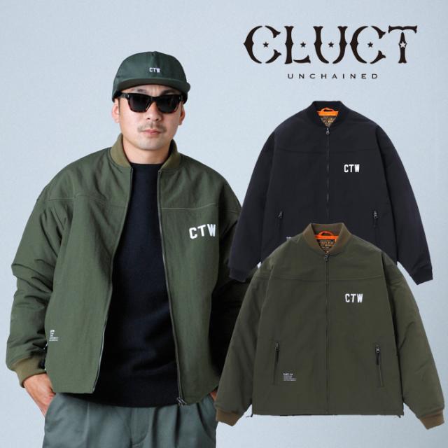 CLUCT(クラクト) CTW-DERBY 【2019HOLIDAY新作】【#03069】【ダービージャケット】【ブラック カーキ ナイロン】【アメカジ おしゃ