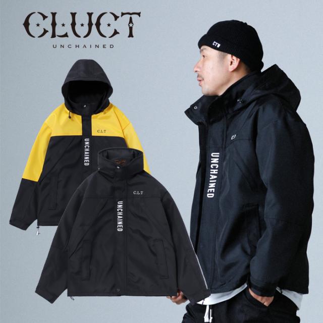 CLUCT(クラクト) CLT-MOUNTAIN 【マウンテンパーカー ジャケット】【ブラック イエロー ナイロン】【アウター カジュアル ストリー