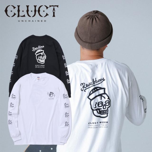 【SALE30%OFF】 CLUCT(クラクト) CC-RISE ABOVE L/S 【ロングスリーブTシャツ】【長袖 プリント ロンT おしゃれ】【白 ホワイト