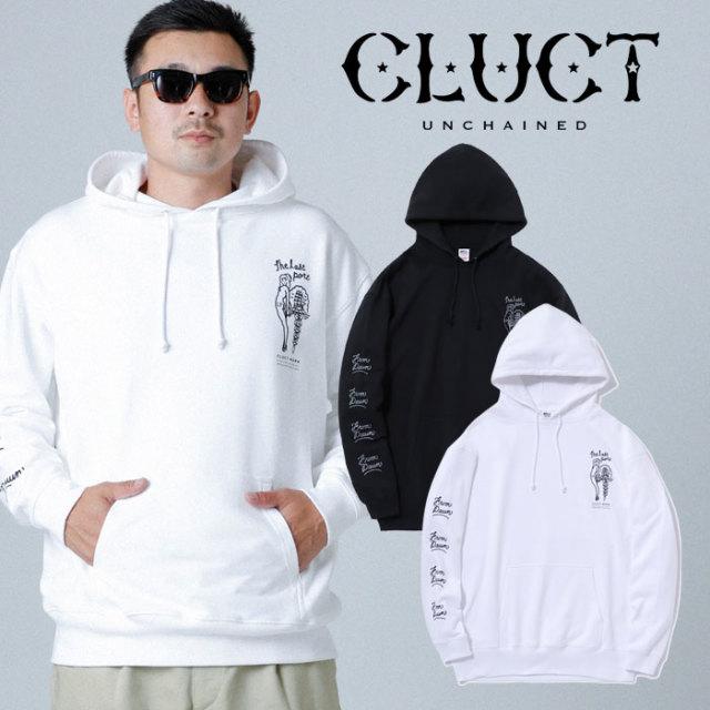 CLUCT(クラクト) CC-THE LAST PORT HD 【2019HOLIDAY新作】【#03078】【プルオーバーパーカー スウェット】【ブラック ホワイト 黒
