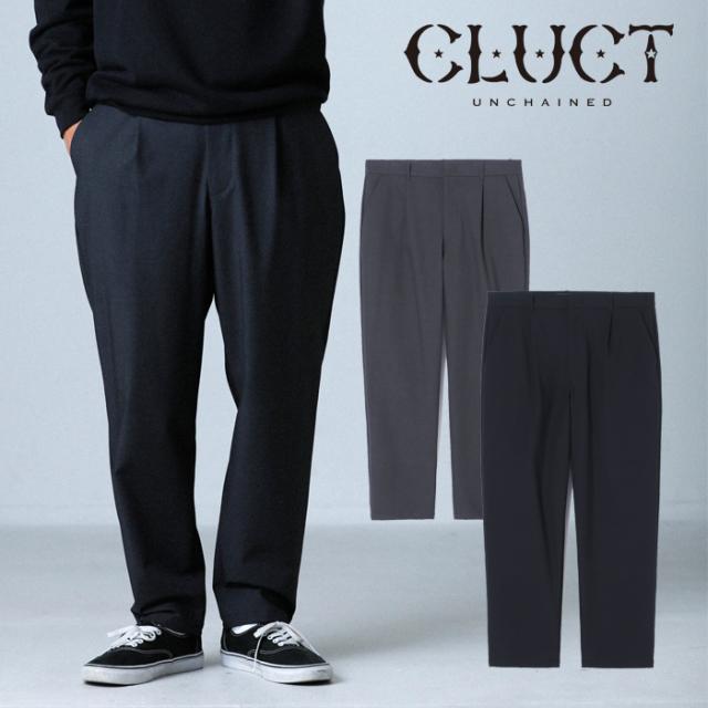 CLUCT(クラクト) CW-CHINO PNT 【チノパン タックパンツ ストレッチ】【ブラック グレー】【カジュアル アメカジ ストリート ミリ