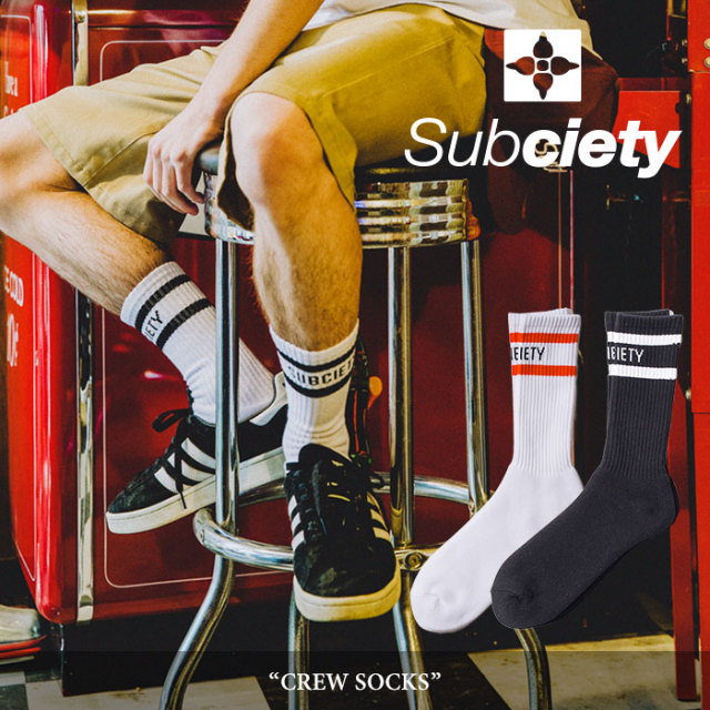SUBCIETY(サブサエティ) CREW SOCKS 【2018SUMMER新作】 【即発送可能】 【106-80292】