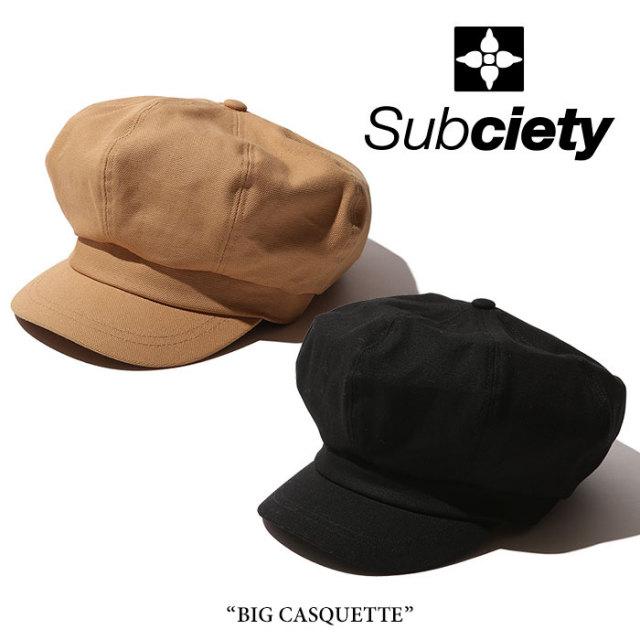 SUBCIETY(サブサエティ) BIG CASQUETTE 【2018SUMMER先行予約】 【キャンセル不可】 【106-86285】