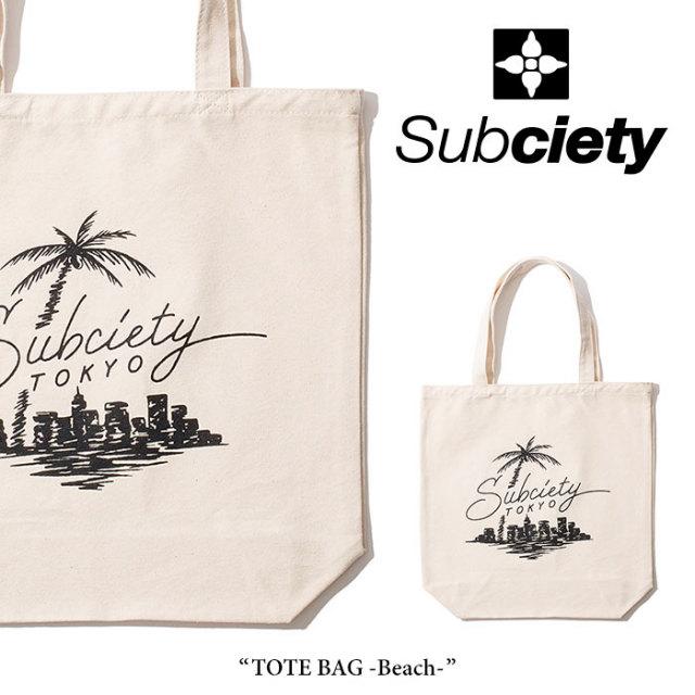 SUBCIETY(サブサエティ) TOTE BAG-Beach- 【2018SUMMER先行予約】 【キャンセル不可】 【106-88288】