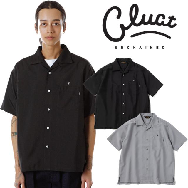 CLUCT(クラクト) CW-OPN S-SH 【オープンカラーシャツ 半袖  おしゃれ】【黒ブラック グレー】【2020 SPRING&SUMMER COLLECTION新