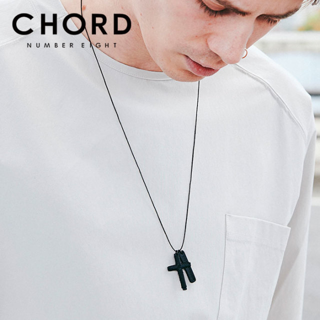 CHORD NUMBER EIGHT(コードナンバーエイト) STRING CROSS NECKLACE 【2019AUTUMN&WINTER先行予約】 【キャンセル不可】【CH01-01K