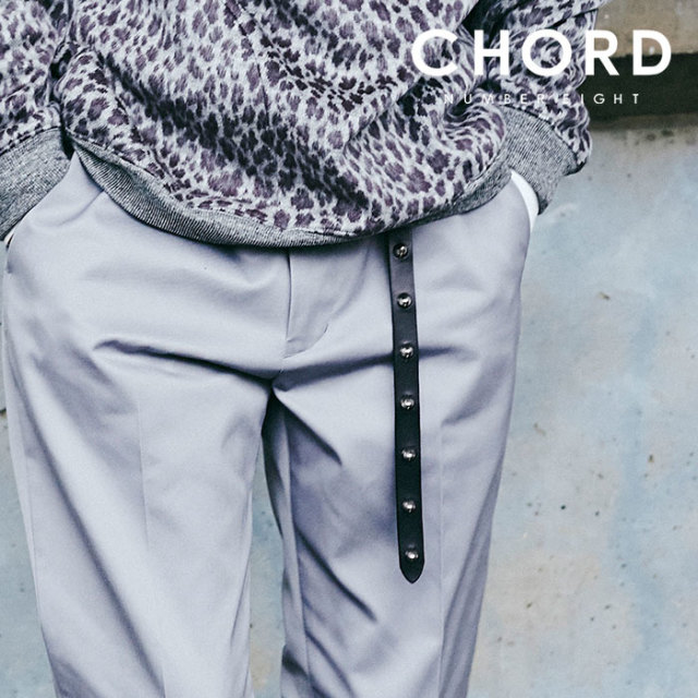 CHORD NUMBER EIGHT(コードナンバーエイト) LONG LEATHER STUDS BELT 【2019AUTUMN&WINTER先行予約】 【キャンセル不可】【CH01-0