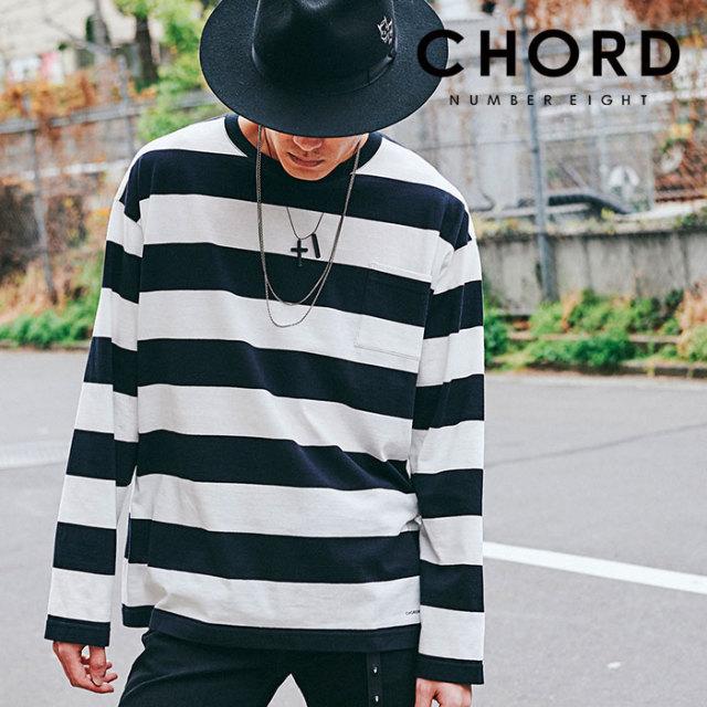 CHORD NUMBER EIGHT(コードナンバーエイト) BORDER WIDE LONG SLEEVE   【2019AUTUMN&WINTER先行予約】 【キャンセル不可】【CH01