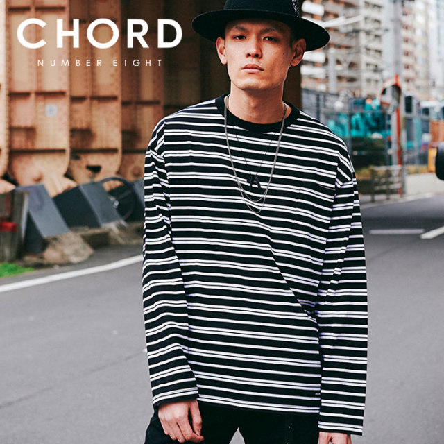 CHORD NUMBER EIGHT(コードナンバーエイト) RANDOM BORDER WIDE LONG SLEEVE 【2019AUTUMN&WINTER先行予約】 【キャンセル不可】