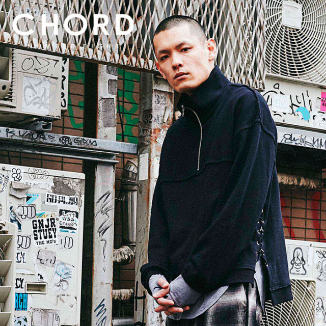 CHORD NUMBER EIGHT(コードナンバーエイト) SIDE LACE UP HALF ZIP SWEAT 【2019AUTUMN&WINTER先行予約】 【キャンセル不可】【CH