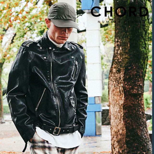 CHORD NUMBER EIGHT(コードナンバーエイト) W RIDERS JACKET 【2019AUTUMN&WINTER先行予約】 【キャンセル不可】【CH01-01K5-JK01