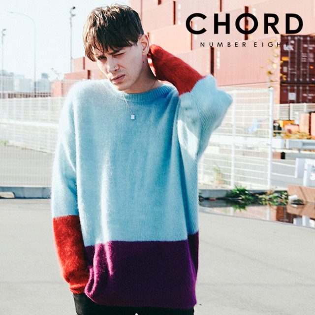 CHORD NUMBER EIGHT(コードナンバーエイト)  MOHAIR PANEL KNIT 【2019AUTUMN&WINTER先行予約】 【キャンセル不可】【CH01-01K5-K