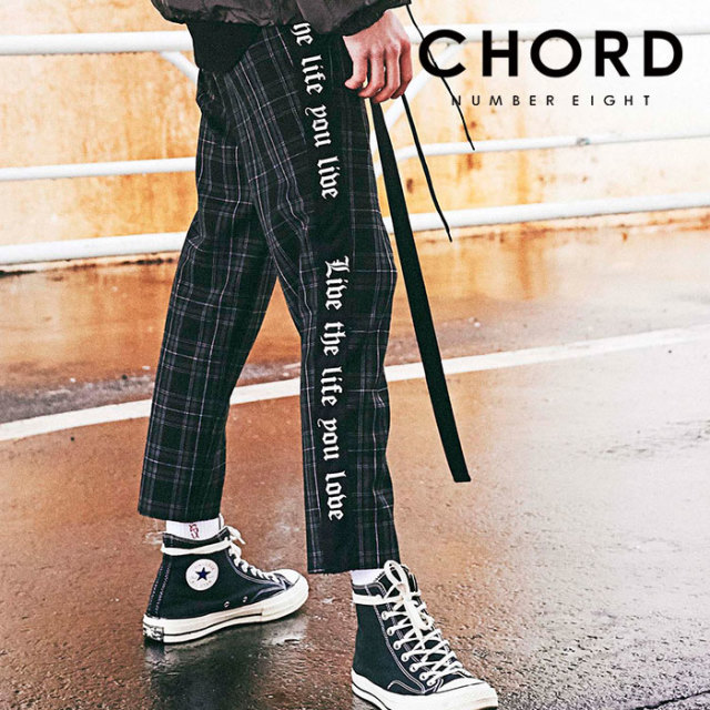 CHORD NUMBER EIGHT(コードナンバーエイト) SIDE LINE CHECK CROPPED PANTS 【2019AUTUMN&WINTER先行予約】 【キャンセル不可】【